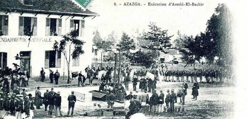 Les guillotinés de l'Afrique-du-nord de 1843 à 1959 dans ALGERIE HISTOIRE SOCIETE guillotine-azzazga-execution-d.Areski.El.Bachir.825x400